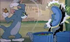 Tom cat saving Jerry from Butch cat