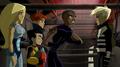 James, Torunn, Pym and Azari with Hawkeye