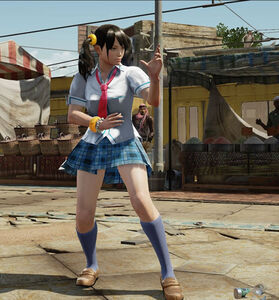 Ling Xiaoyu in schoolgirl