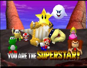 Mario party 64 mario peach yoshi donkey kong koopa tropa boo bowser and toad in Bowser's Magma Mountain