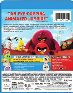 The Angry Birds Movie Blu-ray cover back