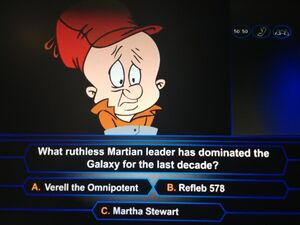 Elmer Fudd is on a game show