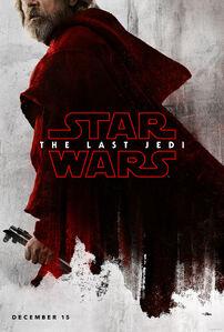 Luke red poster - TLJ