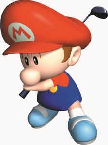 Mario golf 64 baby mario