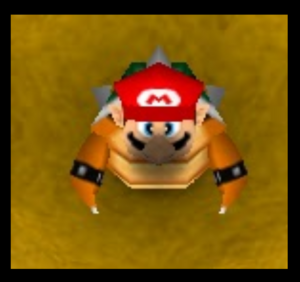 Mario party 2 mario with bowser suit