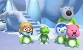 Pororo and friends as dinosaurs