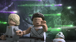 Rey opens the gateway without the key - The LEGO Star Wars Holiday Special