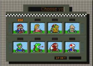 Super Mario Kart - All Characters