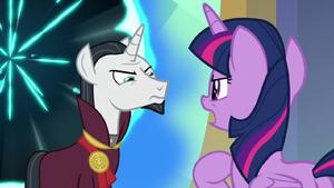 Twilight Sparkle defying Chancellor Neighsay S8E2