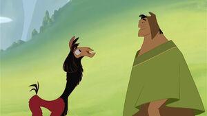 Kuzco and Pacha reconciling