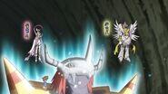 WarGreymon, Angewomon and MagnaAngemon with their partners (Ep. 64)