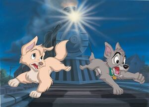 Lady and the Tramp 2 Promotional Images - 9 with Angel and Scamp - 3