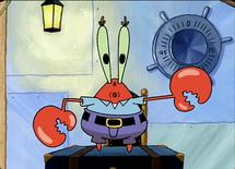 Mr krabs robot dance
