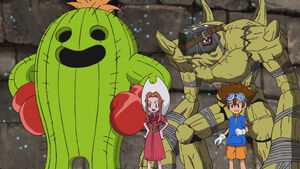 Ep. 37 - Taichi, Mimi, Togemon and Golemon