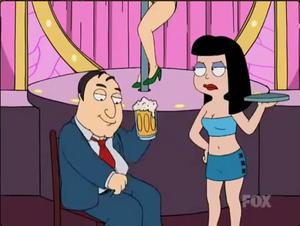 Hayley working in a Strip club