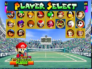 Mario Tennis 64 All Characters