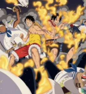 Luffy and Ace fight together