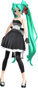 Miku in her Magnet dress customized