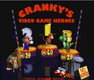 DKC 2 Cranky video game heroes