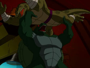 Donatello as a reptilian monster