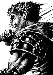 Guts, the Captain of the Hawks Raiders Forward!!Berserk
