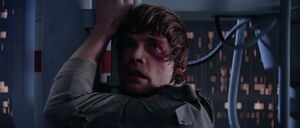 Luke Skywalker's realization of Darth Vader being his father