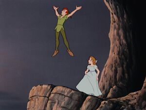 Peter Pan's victory crow