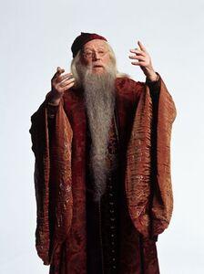 Promo pic of Richard Harris as Professor Dumbledore (CoS)
