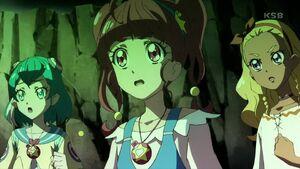STPC21 Hikaru, Lala and Elena watch the darkness consume Aiwarn