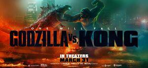 Godzilla vs. Kong official banner