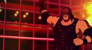 Kane facing Ghost Bear