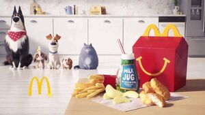 Rooster, Daisy, Max, Pickles and Chloe at the end of SLOP 2 Happy Meal Commerical
