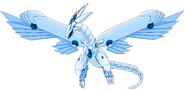 Blue eyes shining dragon by darklordjadow