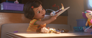 Bonnie and forky playing