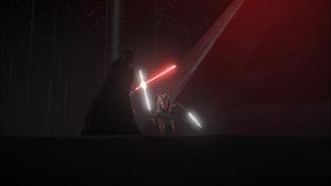 Darth Vader battled
