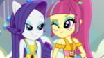 Sour Sweet winking at Rarity EGS1