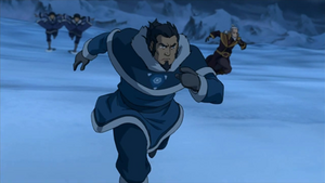 Tonraq and his friends attack the Red Lotus