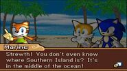 Marine, Tails and Sonic