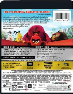 The Angry Birds Movie 4K UltraHD back cover