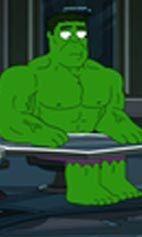The real hulk of family guy