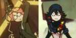 Amanda and Ryūko with the same tiny angry badass expressions