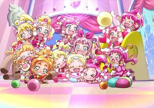 Visual of the pink Cures as babies