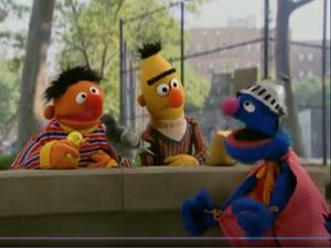 Ernie Bert Super Grover and Berince