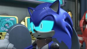 Cyborg Sonic in Victory