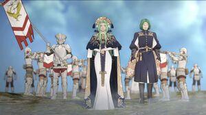 Rhea and Seteth in game cutscene