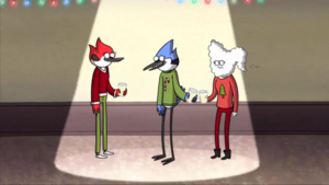 S6E10 Mordecai Introducing Margaret to CJ