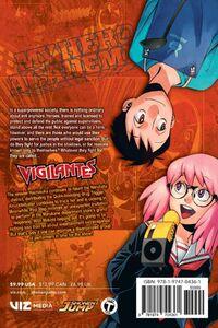 My Hero Academia Vigilantes Manga Volume 4 Back Cover