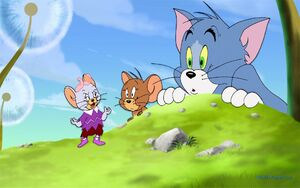Tuffy, Jerry and Tom as seen in the film, Tom and Jerry and the Wizard of Oz