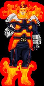 Endeavor Second Costume Anime Profile