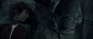 Frodo Hiding from Cave Troll